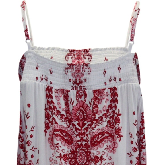 INC International Concepts Tops - INC Off The Shoulder Top Speckle Paisley Red